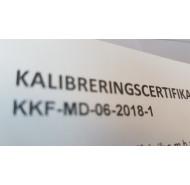Kalibreringscertifikat: 1001-1500 kg